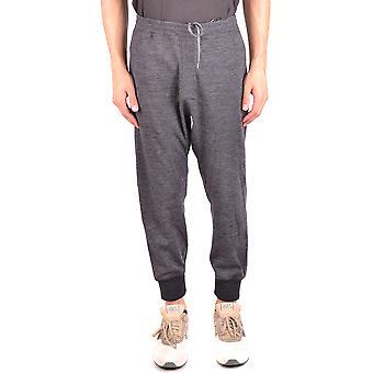 Neil Barrett Ezbc058059 Men's Grey Wool Pants