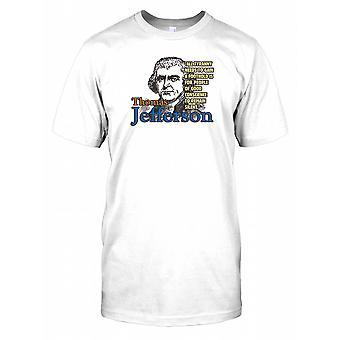 Thomas Jefferson - alle tyranni behov... - kjent Mens T-skjorte