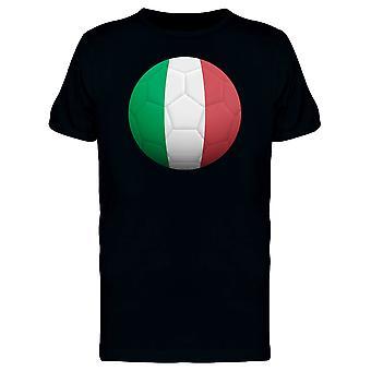 Футбольный мяч с Италия флага Футболка мужская-изображений Shutterstock