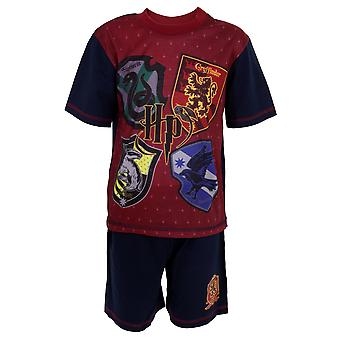 Harry Potter Childrens/Kids House Crests Short Pyjama Set