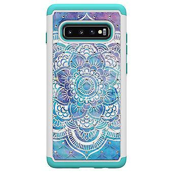 Samsung Galaxy S10+ TPU-Skal Armor Extra Tåligt - Mandala Flower