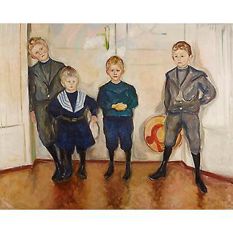 Vier kinderen, Edvard Munch, 50x40cm