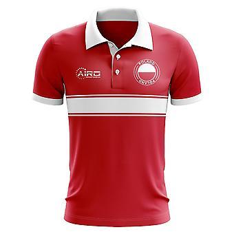 Polen-Konzept-Streifen-Polo-Shirt (rot)