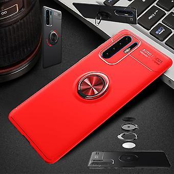 Für Samsung Galaxy A40 5.9 Zoll Magnet Metall Ring ultra dünn Case Rot Tasche Hülle Cover Etuis Schutz