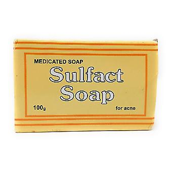 Kongelig Sanderson Sulfact såpe medisinsk såpe-10% svovel-for akne 100g