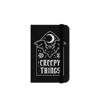 Grindstore Creepy Things Mini Black Notebook