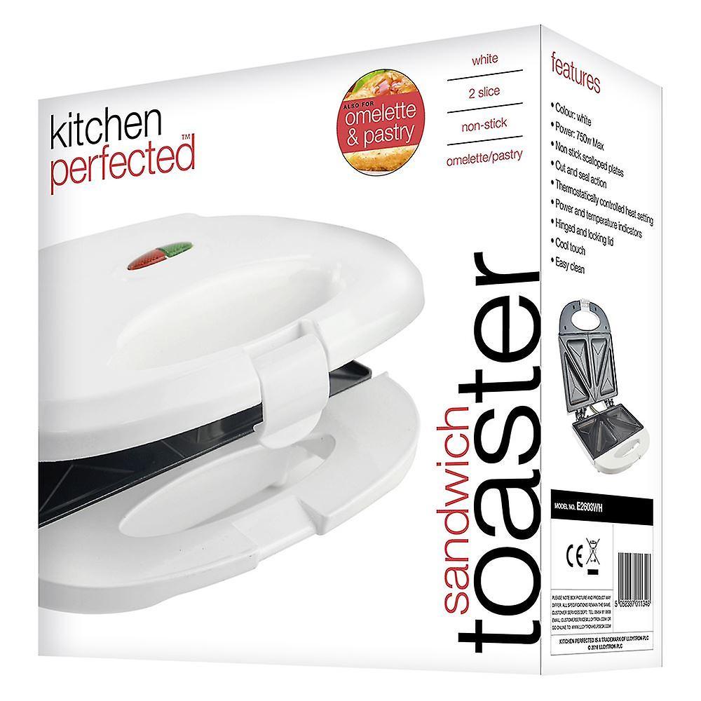 Lloytron Kitchen Perfected 2 Slice Sandwich and Omelette Maker White (E2603WH)