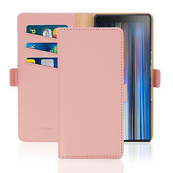 Sony Xperia 10 Wallet Case Stand Function DZgogo - Rose gold