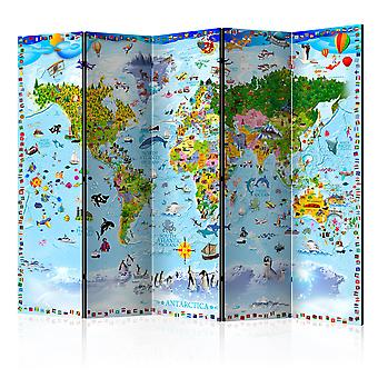 Paravento - World Map for Kids II [Room Dividers]