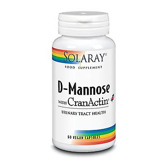 Solaray D-Mannose with CranAin 1000mg Capsules 60 (55337)