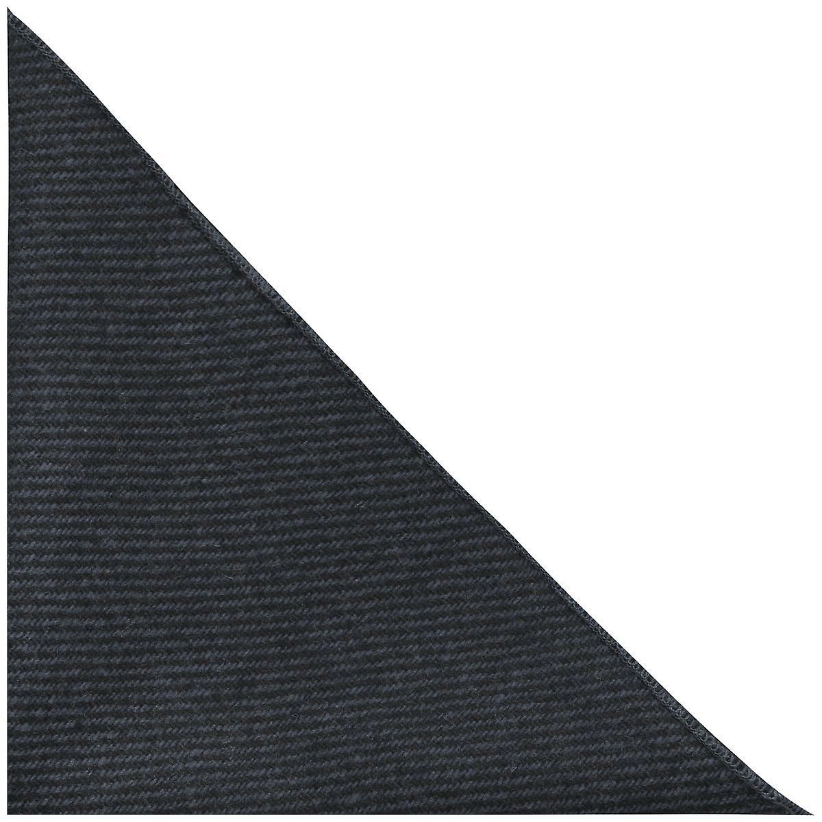 Prussian Blue & Grey Sharkskin Pocket Square, Handkerchief