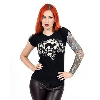 Liquor brand - jinx proof - womens t-shirt - black