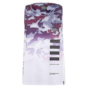 Fabric Mens Embroidered Vest Training Tank Tee Top Sleeveless Crew Neck