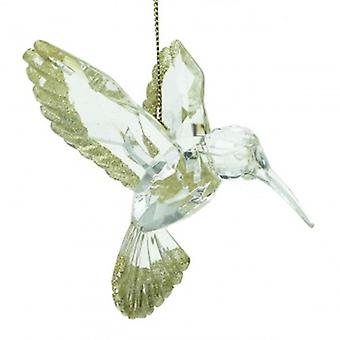 Gisela Graham Gold Hummingbird Flying Christmas Decoration