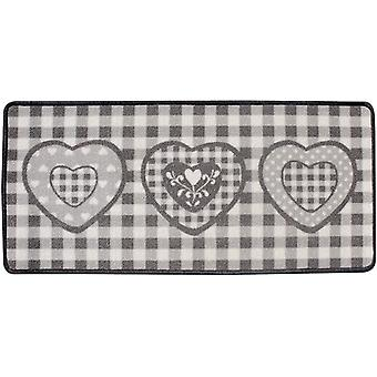Aramis Gray heart kitchen rug 44x100 cm (Kitchen , Kitchen Organization , Others)