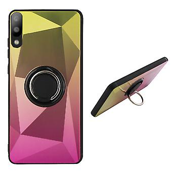 BackCover Ring / Magnet Aurora Samsung A10 - M10 Gold+Pink