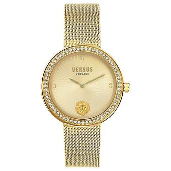 Versus Versace | Women's Léa | Gold Mesh Bracelet | Gold Dial | VSPEN0819 Watch