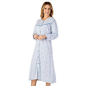 Slenderella ND4112 Femme-apos;s Jersey Floral Cotton Nightdress