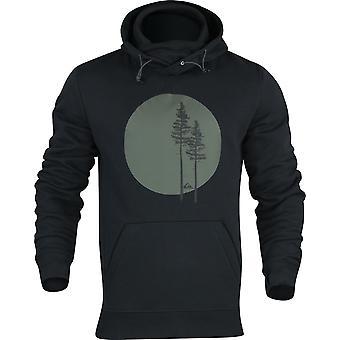 Quiksilver Hombres Grandes Logo Tech Pullover Sudadera con capucha - Negro