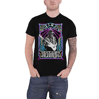 Jimi Hendrix T Shirt Electric Ladyland Neon Logo new Official Mens Black