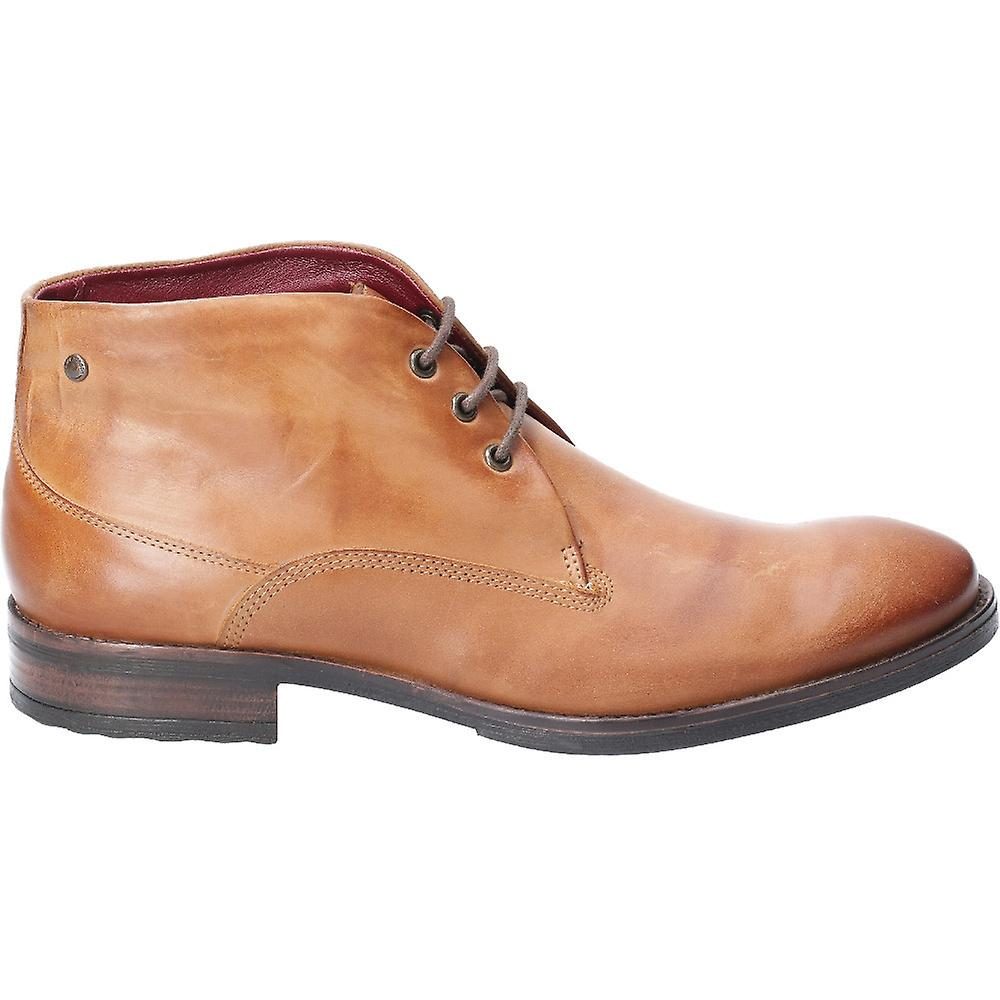 Base Londres Mens Bramley Burnished Laced Ankle Chukka Boots