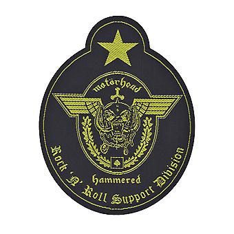 Motorhead Support Division uitgesneden geweven Patch