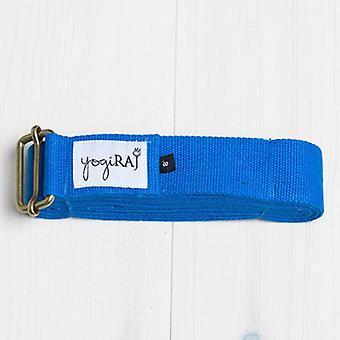 2 bucăți, curea de yoga, bumbac organic, 305 cm albastru