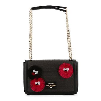 Love Moschino Women Black Shoulder bags -- JC42324528