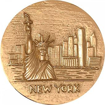Nikki Lissoni New York Statue Of Liberty Large Gold Plated Coin C1145GL