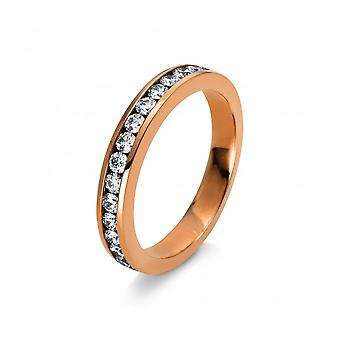 Diamond ring - 18K 750/- red gold - 0.56 ct. Size 53