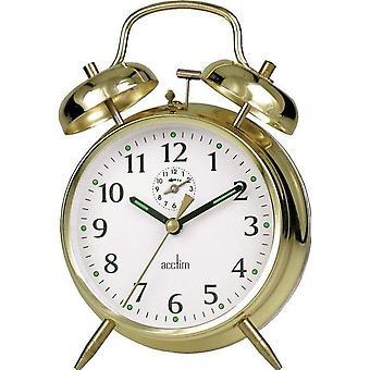 Acctim Saxon Bell Brass Alarm Clock