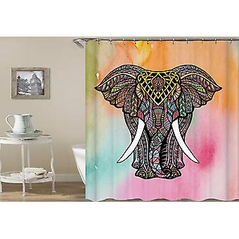 Colorful India Style Elephant Shower Curtain