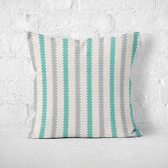 Meesoz Cushion Cover - Retro Vertical Turquoise