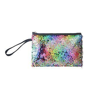 Jewelcity Multicoloured Sequin Flat Makeup Bag