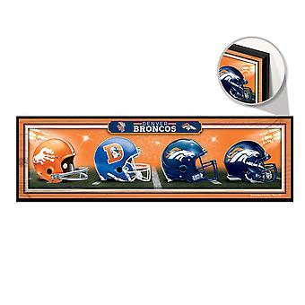 Wincraft NFL trä sköld HELME Denver Broncos 76x22cm