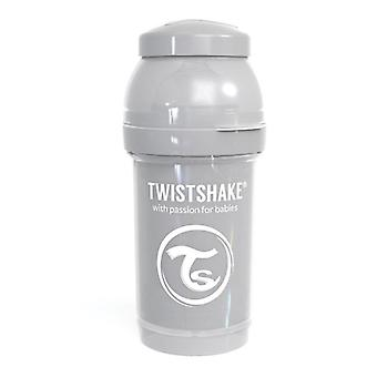 Twistshake Babyfles Antikoliek 180 Ml - Pastel Grijs