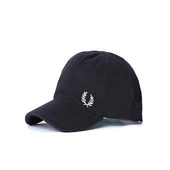Fred Perry Svart piké Classic keps