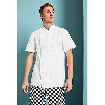 SIMON JERSEY Unisex Short Sleeve Chef's Jacket, White