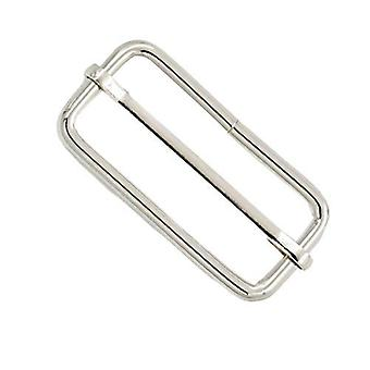 50mm Metal Silver Triglide Slider Bar Buckle
