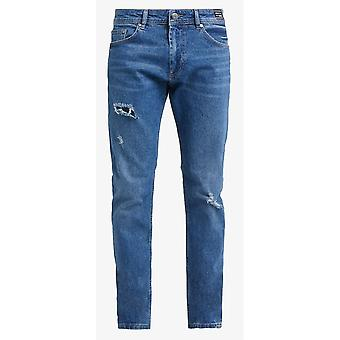 Versace Denim Slim Fit Mid Wash Jeans