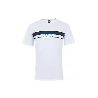 Hugo Boss Leisure Wear Hugo Boss Mens White Regular Fit T-Shirt