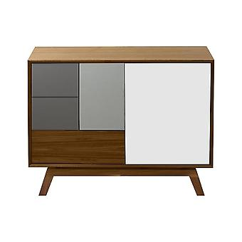 Fusion Living Danish Medium Walnut And Grey Sideboard