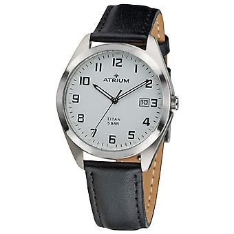 ATRIUM Men's Watch Wristwatch Titanium A14-10 Leather