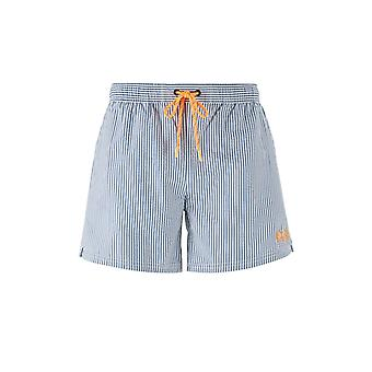 BOSS Traje de baño Jefe Velvetfish Swim Shorts Open Azul