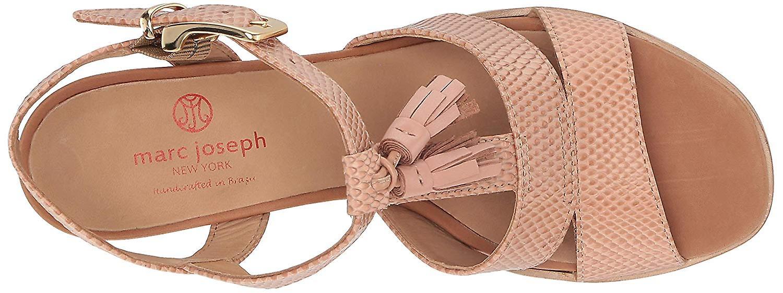 Marc Joseph New York Women's Leather Made In Brazil Irving St. Sandal Wedge
