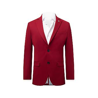 Avail London Mens Chilli Red Suit Jacket Skinny Fit