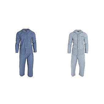Walter Grange Mens Traditional Paisley Patterned Long Sleeve Shirt And Bottoms Pyjama Set