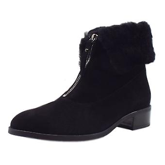 Peter Kaiser Hania Lambskin Ankle Boot In Black Suede