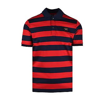 Paul & Shark Paul And Shark Organic Cotton Polo Shirt Red Navy