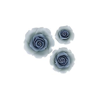 SugarSoft Ombre Blue Sugar Soft Roses - Pack mixte de 38mm, 50mm, 63mm - Boxed 12